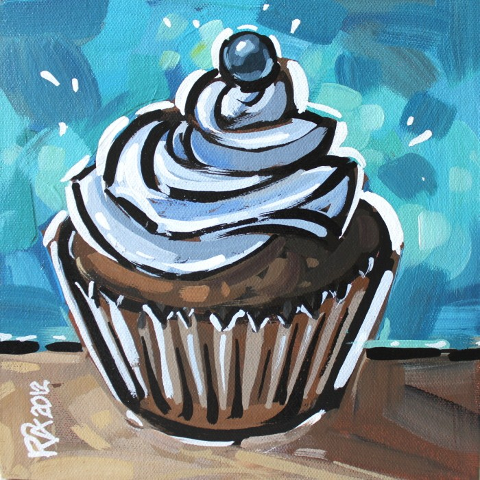 """Cupcake 6"" original fine art by Roger Akesson"