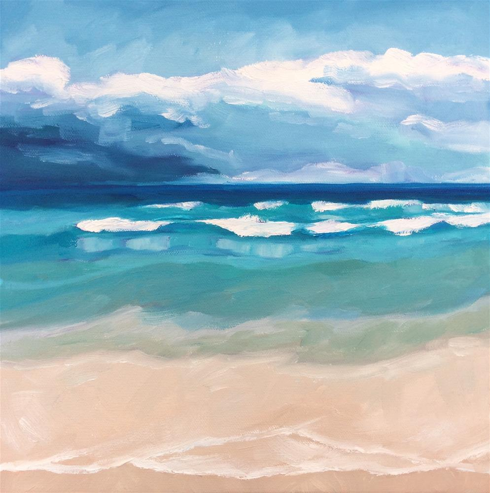 """Just Another Day at the Beach #2"" original fine art by Carol Stickley"