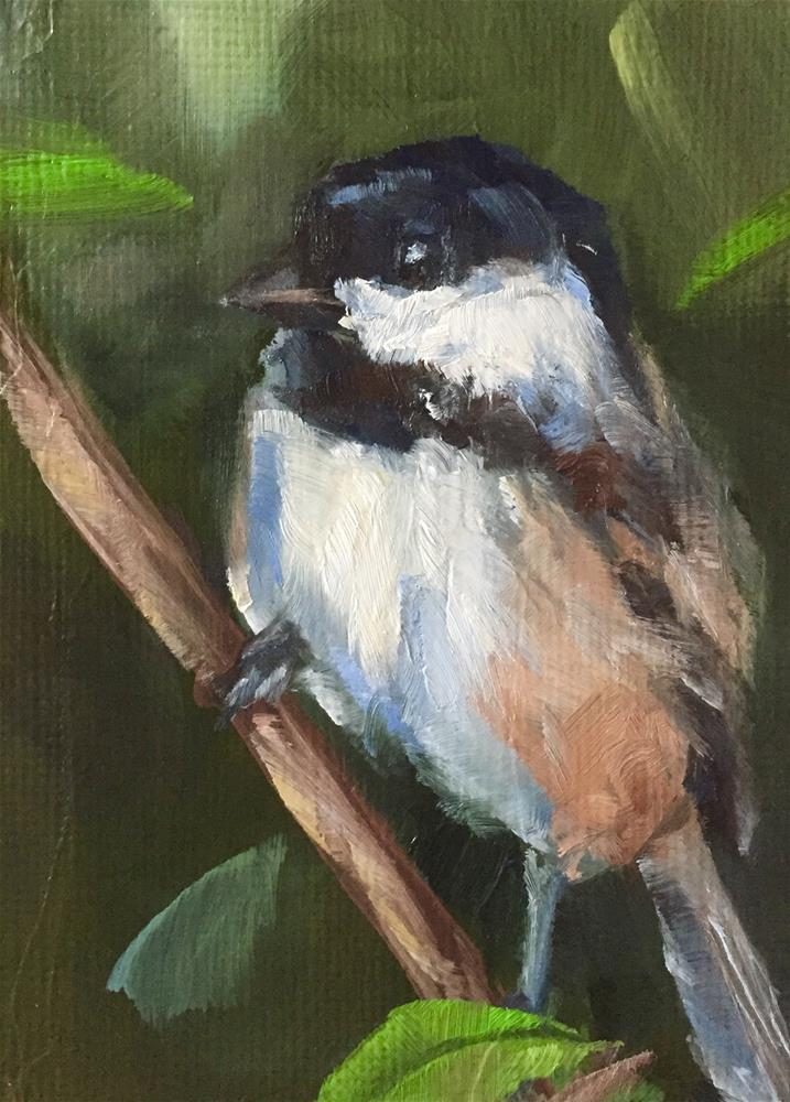 """Brief Perch"" original fine art by Gary Bruton"