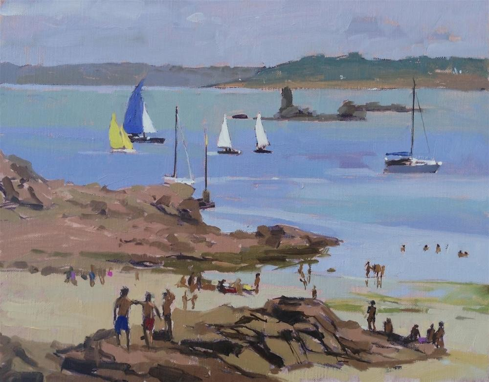 """Regatta day, Bréhat"" original fine art by Haidee-Jo Summers"