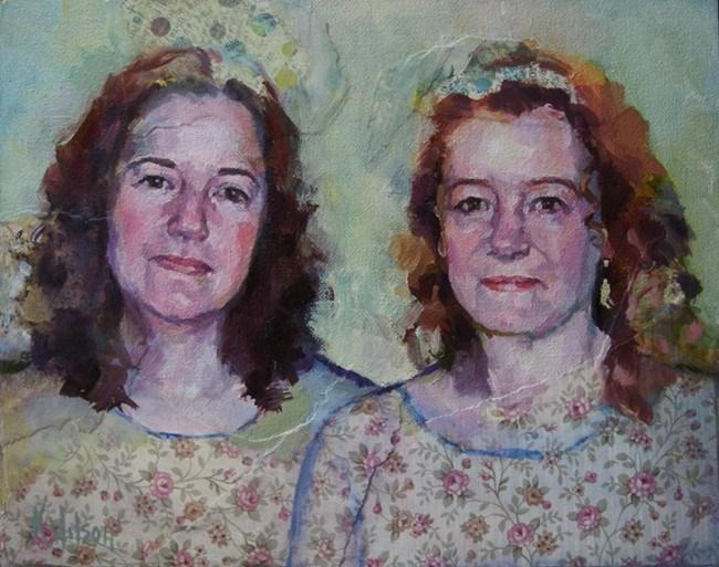 """Two Sisters"" original fine art by Katie Wilson"