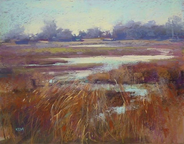"""More on Painting Grasses with Pastels"" original fine art by Karen Margulis"