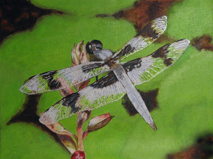 """The Dragonfly"" original fine art by Nan Johnson"