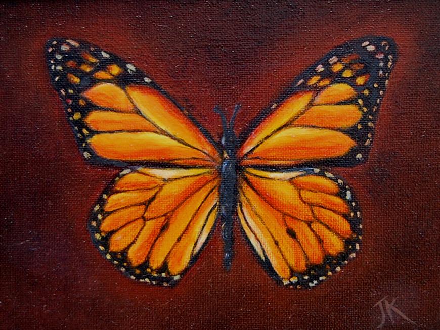 """""""Monarch"""" original fine art by Julie Kirkland"""