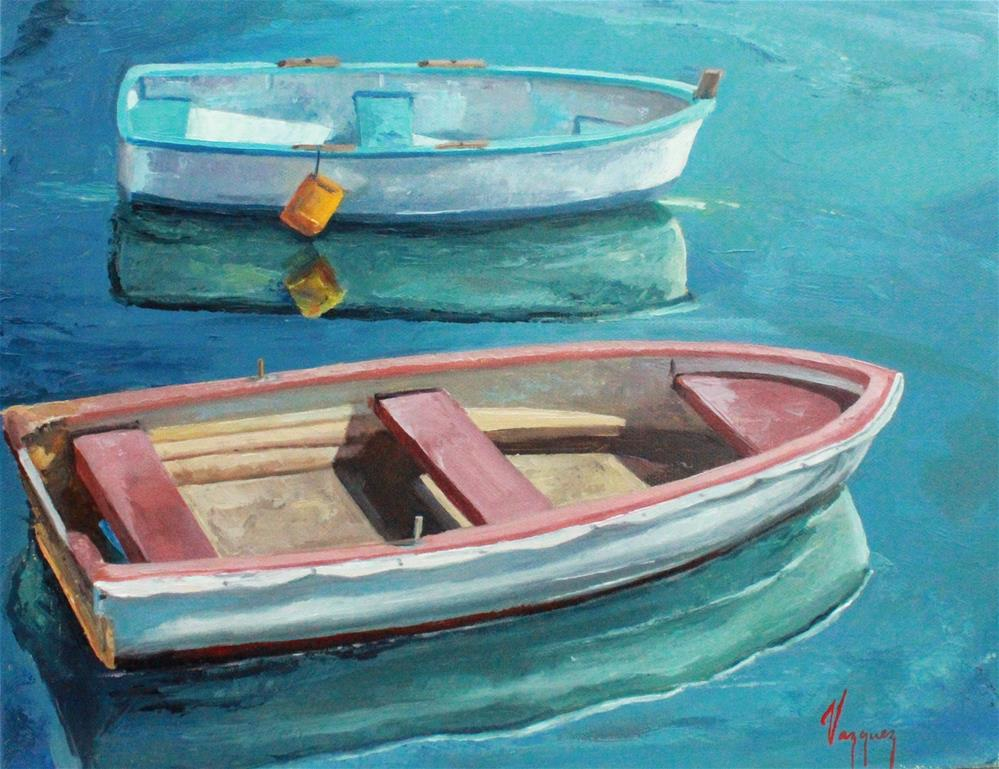 """Two boats"" original fine art by Marco Vazquez"