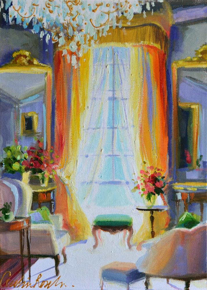 """""""SITKAMERVENSTER"""" original fine art by Cecilia Rosslee"""