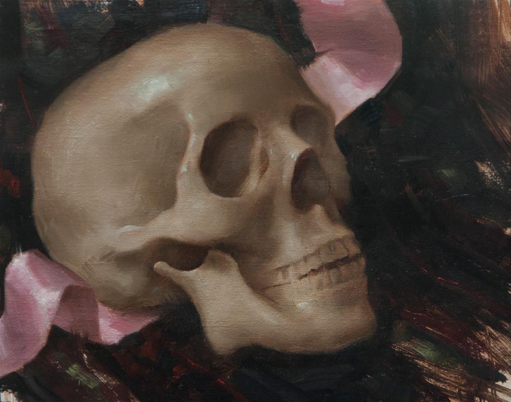 """Skull Study"" original fine art by Catherine Bobkoski"