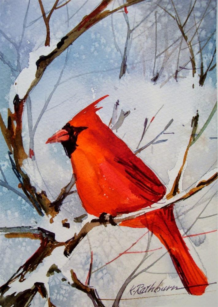 """Cardinal II"" original fine art by Kathy Los-Rathburn"