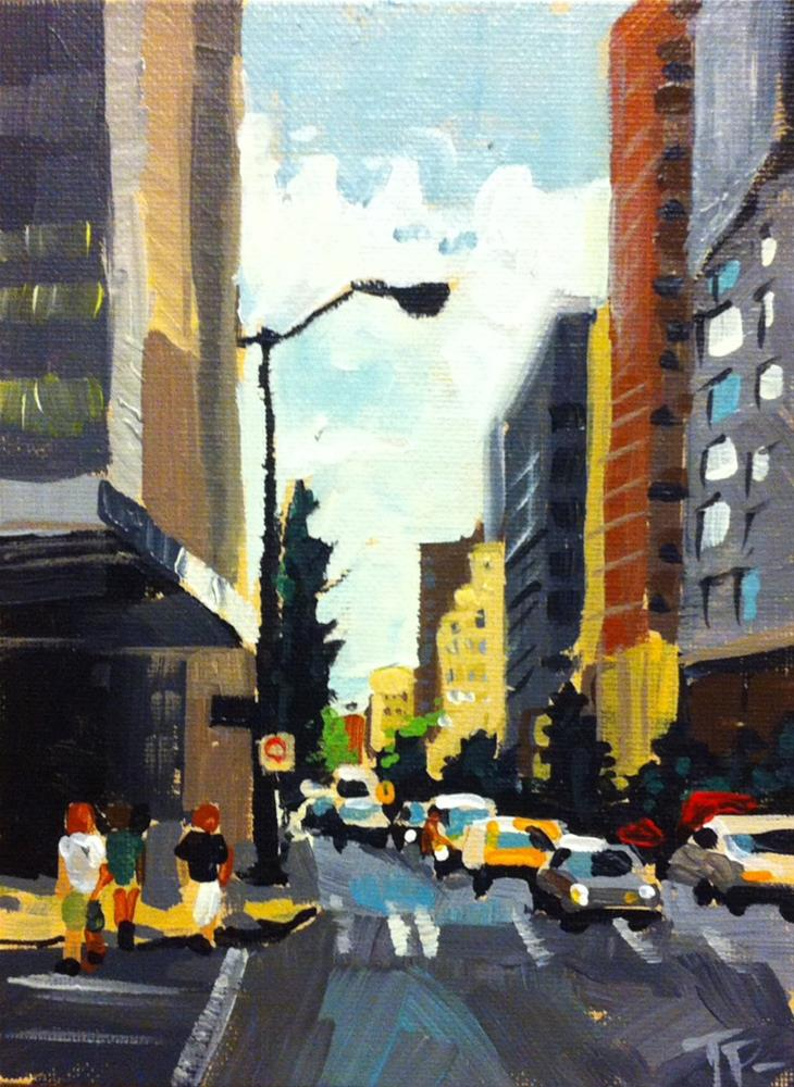 """Gritty City Challenge"" original fine art by Teddi Parker"