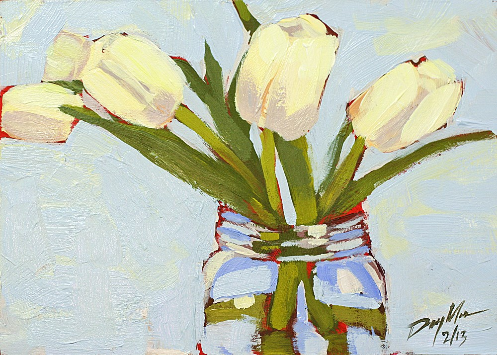 """Tulips Friday"" original fine art by Mike Daymon"