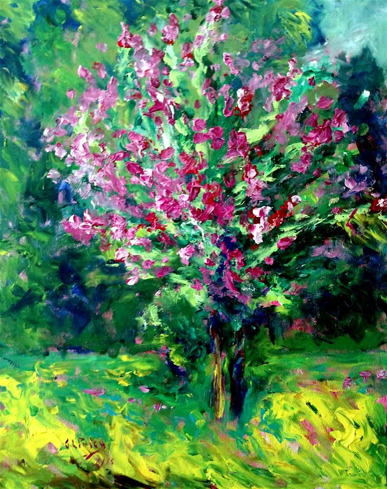 """Ramsey's Crape Myrtle"" original fine art by S. Lynne Price"