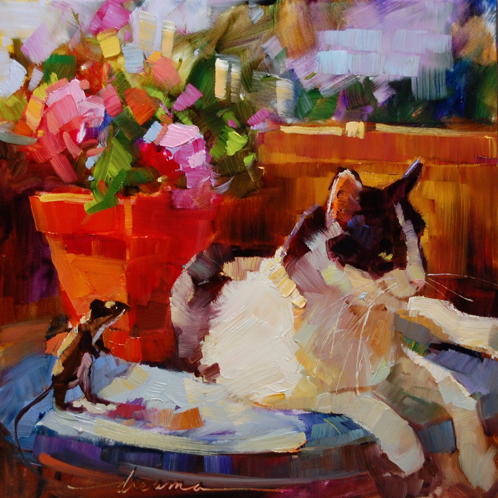"""Table for One  SOLD"" original fine art by Dreama Tolle Perry"