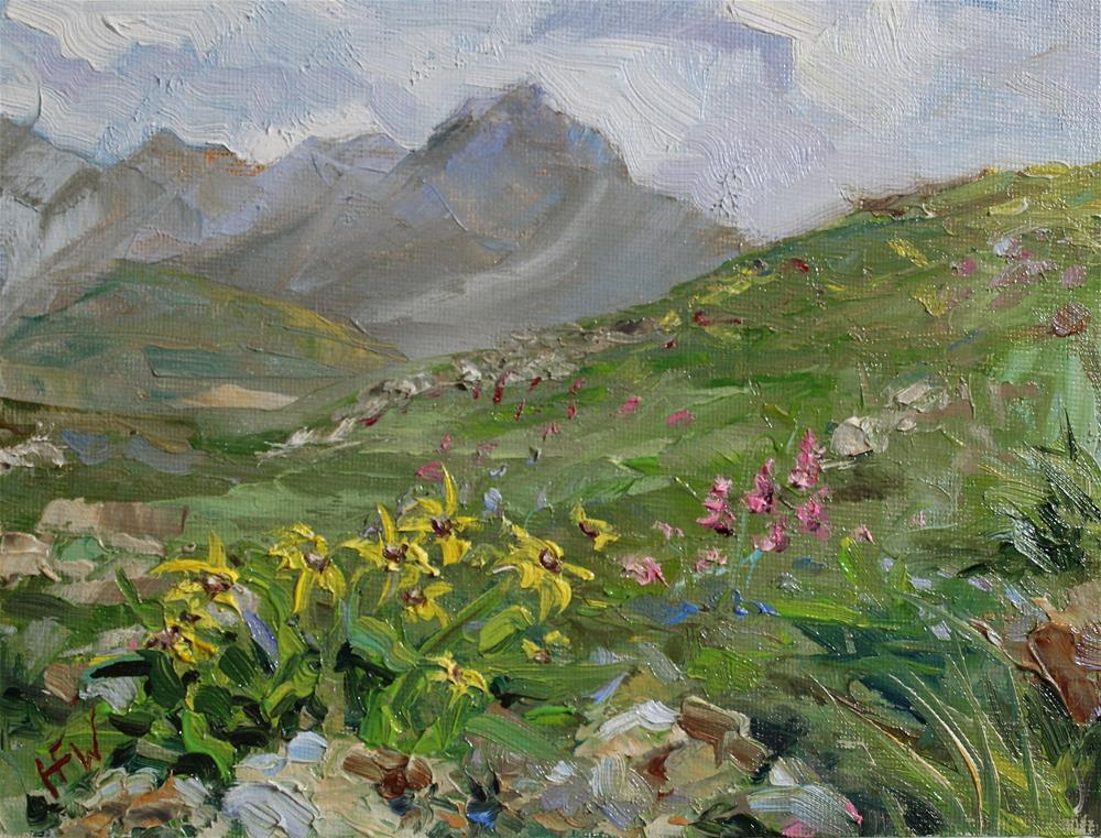 """Mountain Wildflowers"" original fine art by H.F. Wallen"