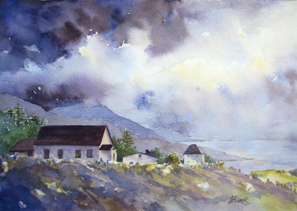 """""""Storm over Cheticamp"""" original fine art by Judith Freeman Clark"""