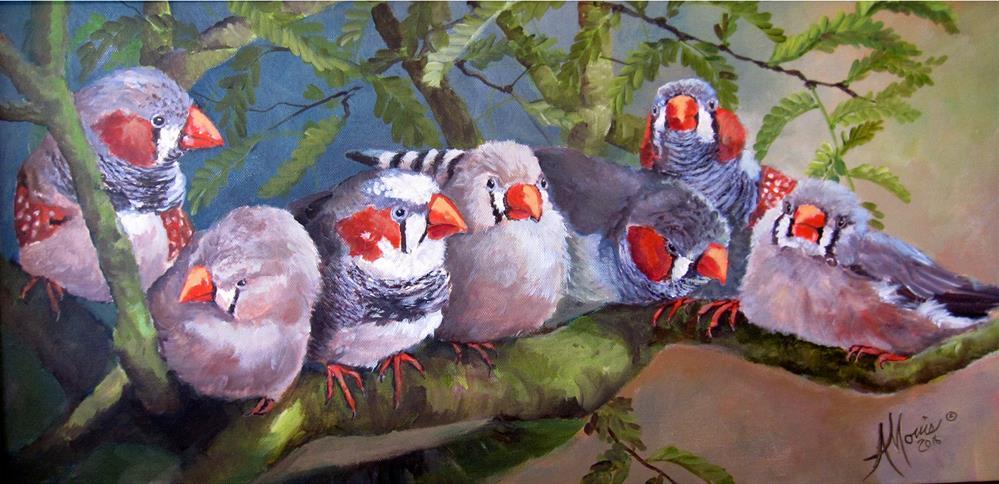 """Seven Little Zebra's"" original fine art by Andrea Morris"