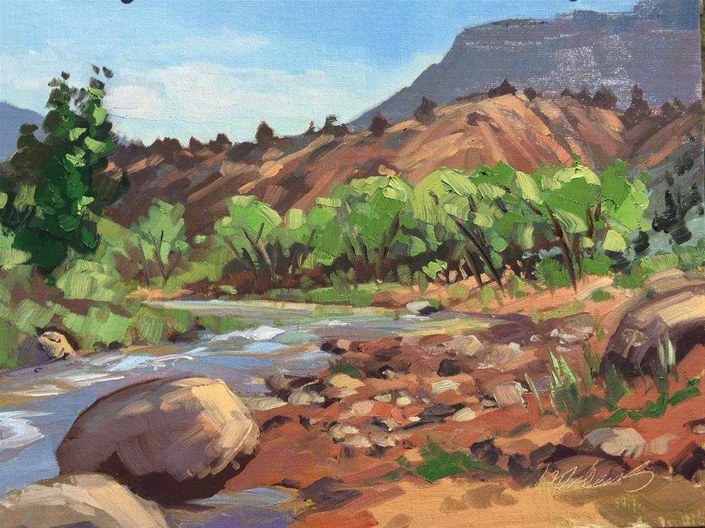 """LaVerkin Creek"" original fine art by Mary Jabens"