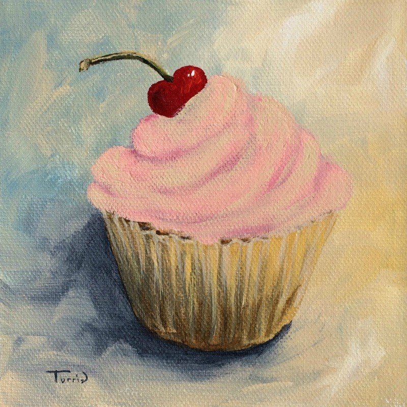 """Cupcake 008"" original fine art by Torrie Smiley"