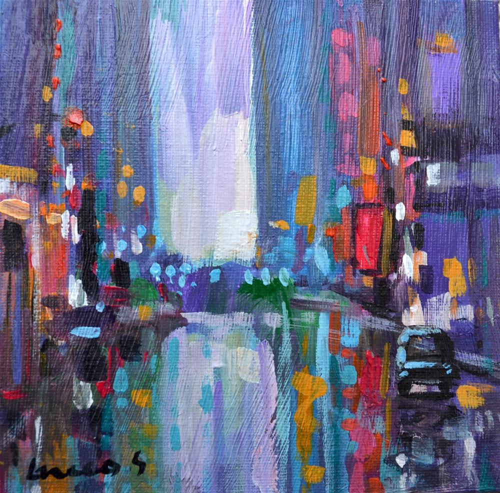 """New York 9"" original fine art by salvatore greco"