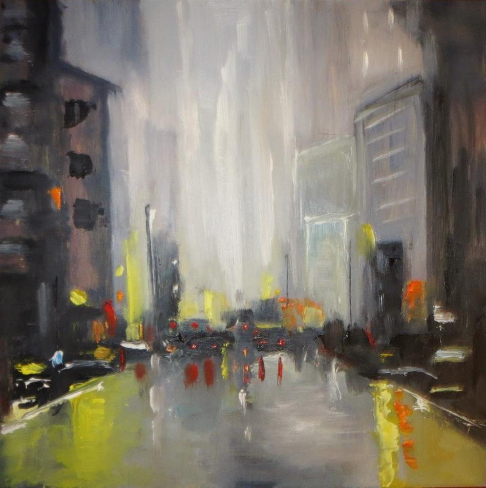 """Downtown Manhattan"" original fine art by Astrid Buchhammer"