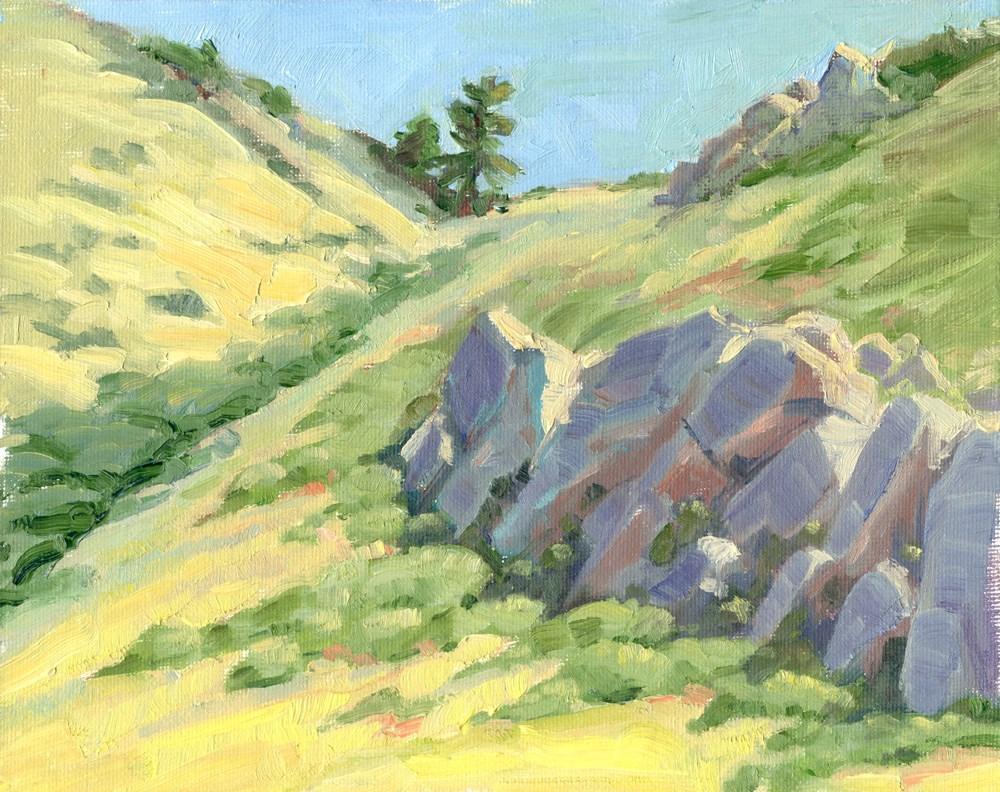 """Rocky Slope"" original fine art by Kath Reilly"