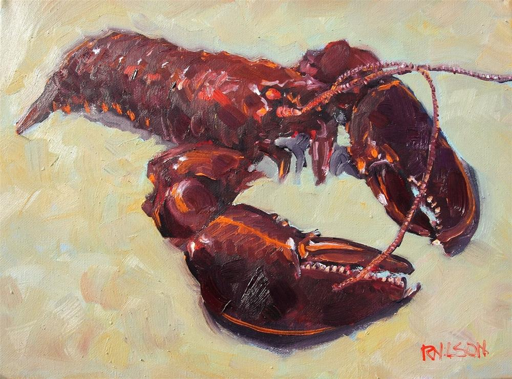 """Lobster"" original fine art by Rick Nilson"