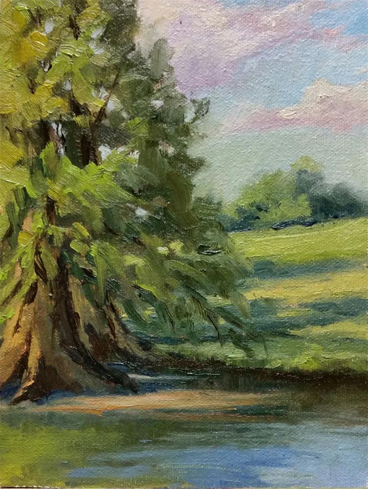 """Shaw study-1 en plein air"" original fine art by Veronica Brown"