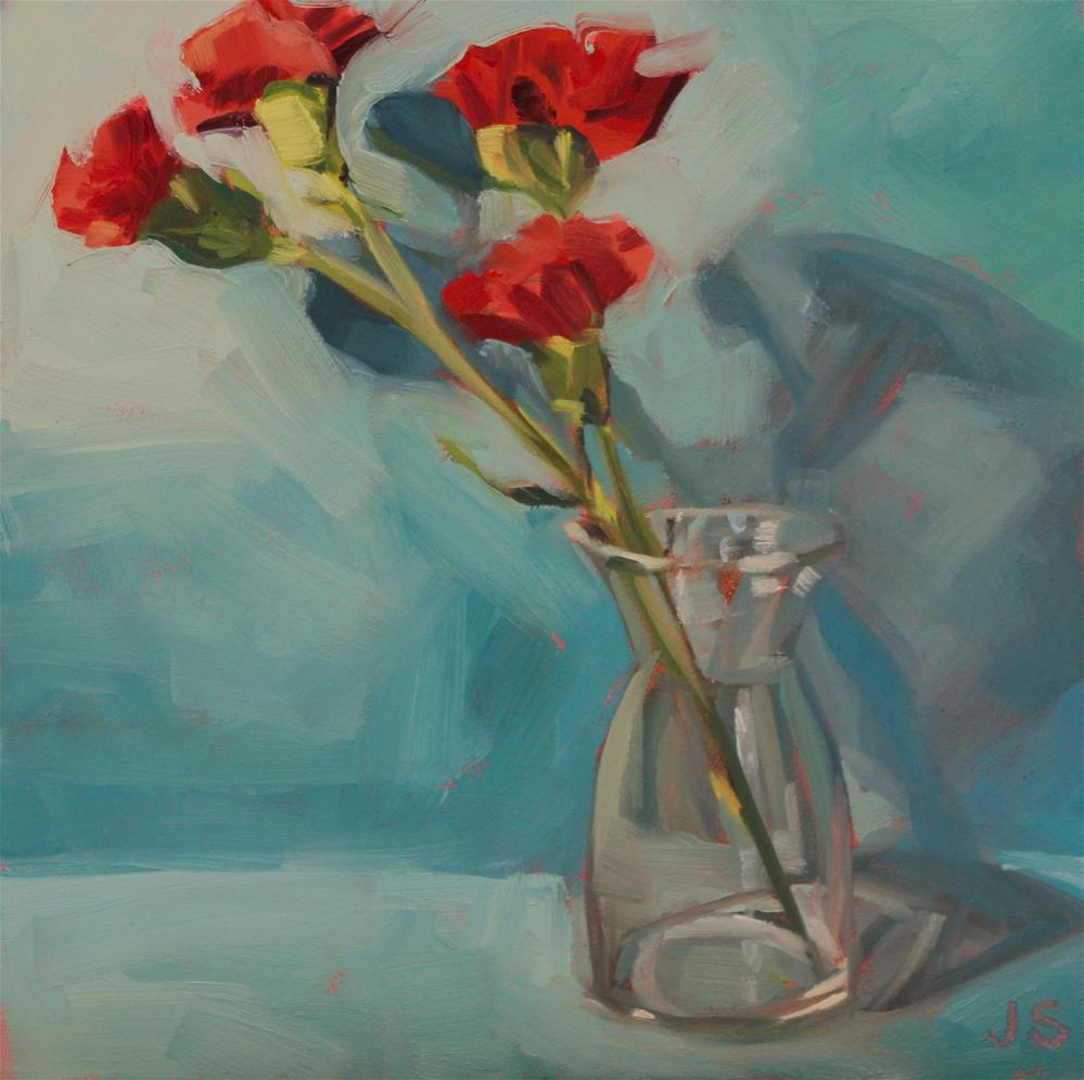 """Pops of Red"" original fine art by Jamie Stevens"