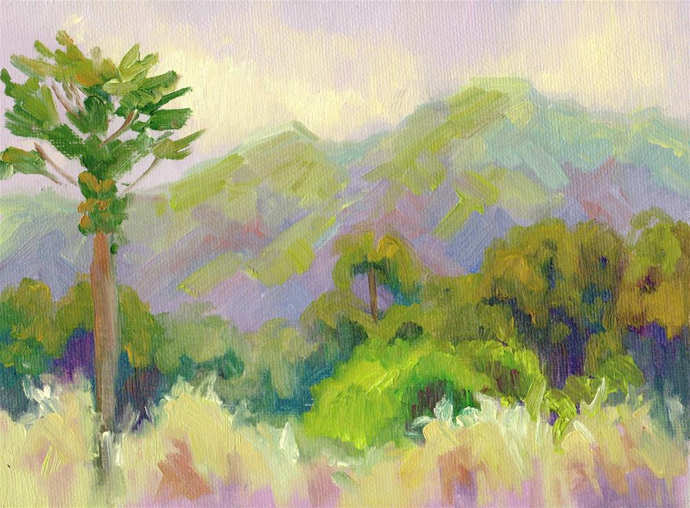 """KAUAI FARM VIEW"" original fine art by Karen E Lewis"