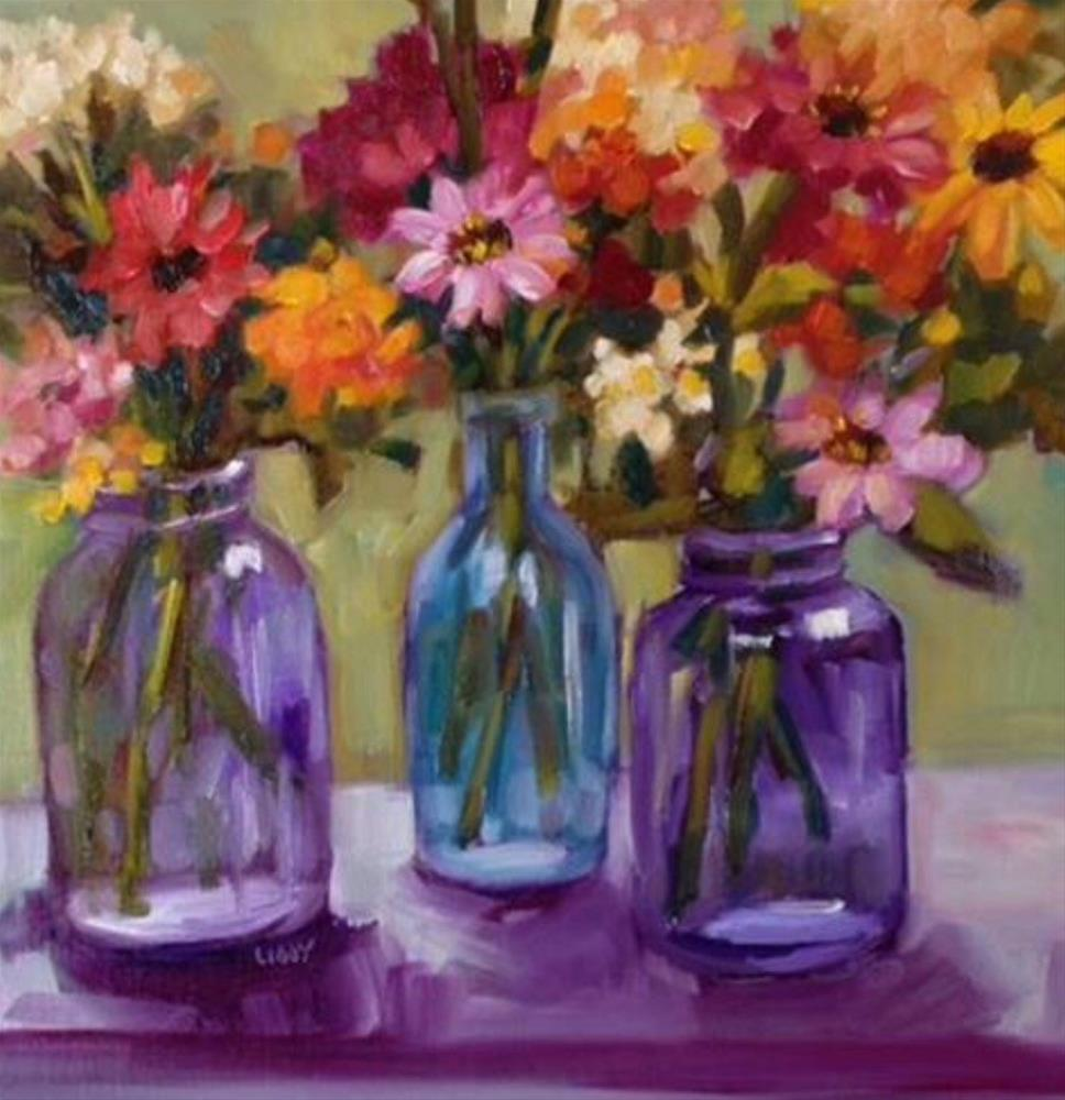 """Violet Mixers"" original fine art by Libby Anderson"