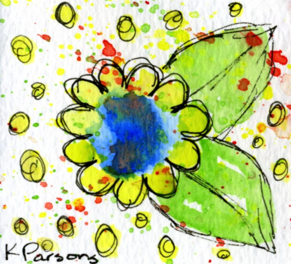 """A Flower with Dots"" original fine art by Kali Parsons"