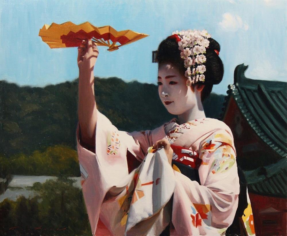 """Heian Dance"" original fine art by Phil Couture"