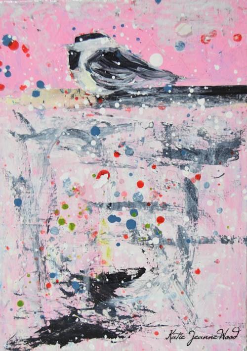 """""""Bird No 61"""" original fine art by Katie Jeanne Wood"""
