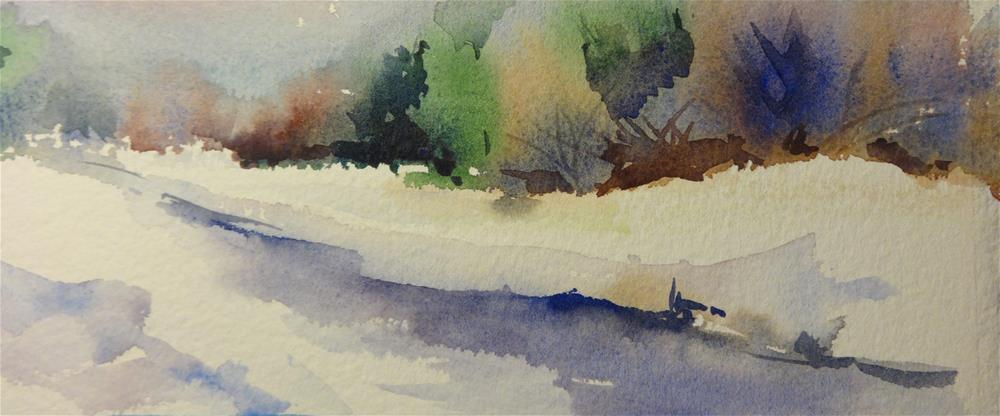 """Thanksgiving Snow"" original fine art by angela scully"