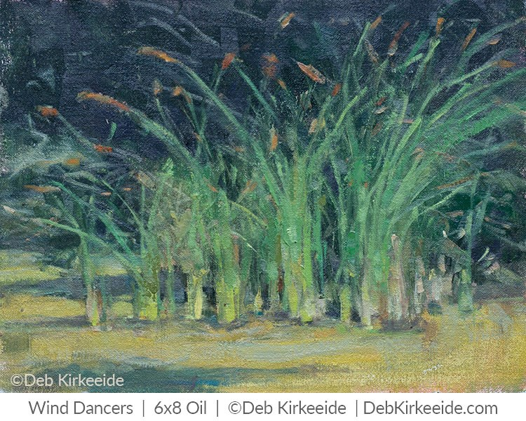 """Wind Dancers - Original Oil Plein Air Landscape - Deb Kirkeeide"" original fine art by Deb Kirkeeide"