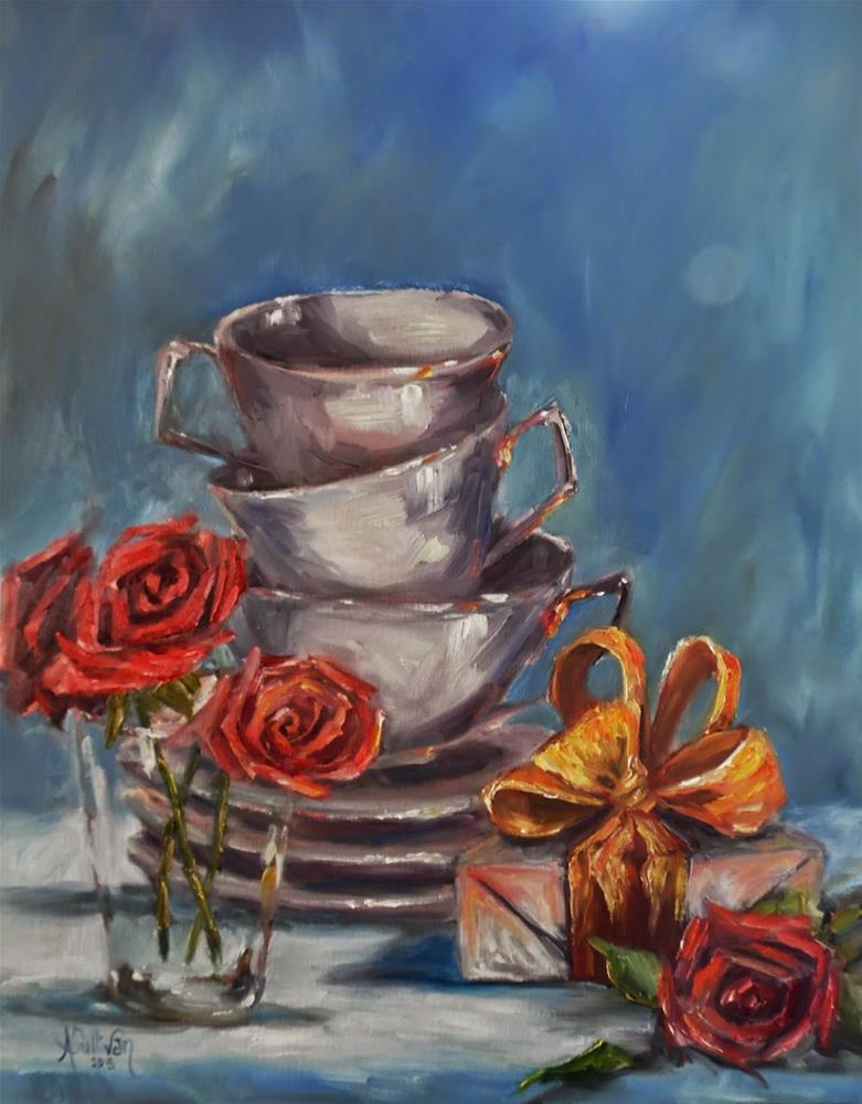 """Once Upon A Rose still life painting by Alabama Artist Angela Sullivan"" original fine art by Angela Sullivan"
