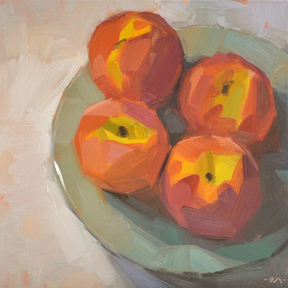 """Plump Peaches"" original fine art by Carol Marine"