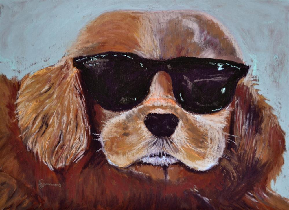 """Dexter"" original fine art by Laurie Sammons"
