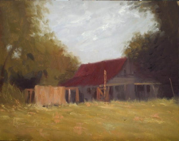 """Mallard Cove Barn"" original fine art by Weston Hobdy"