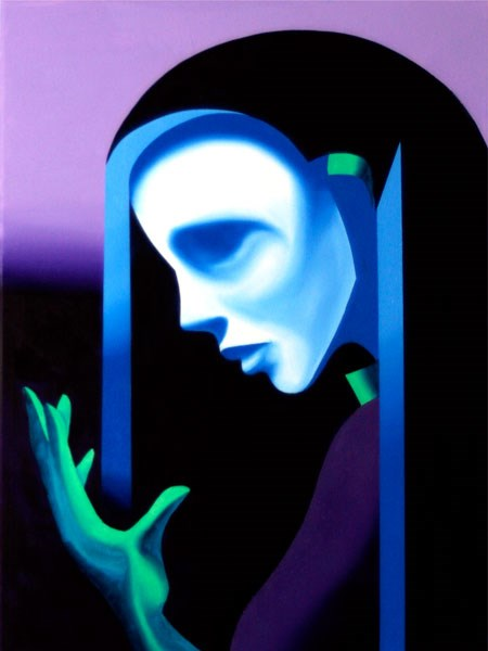 """Mark Webster - Ghost Mask Oil Painting"" original fine art by Mark Webster"