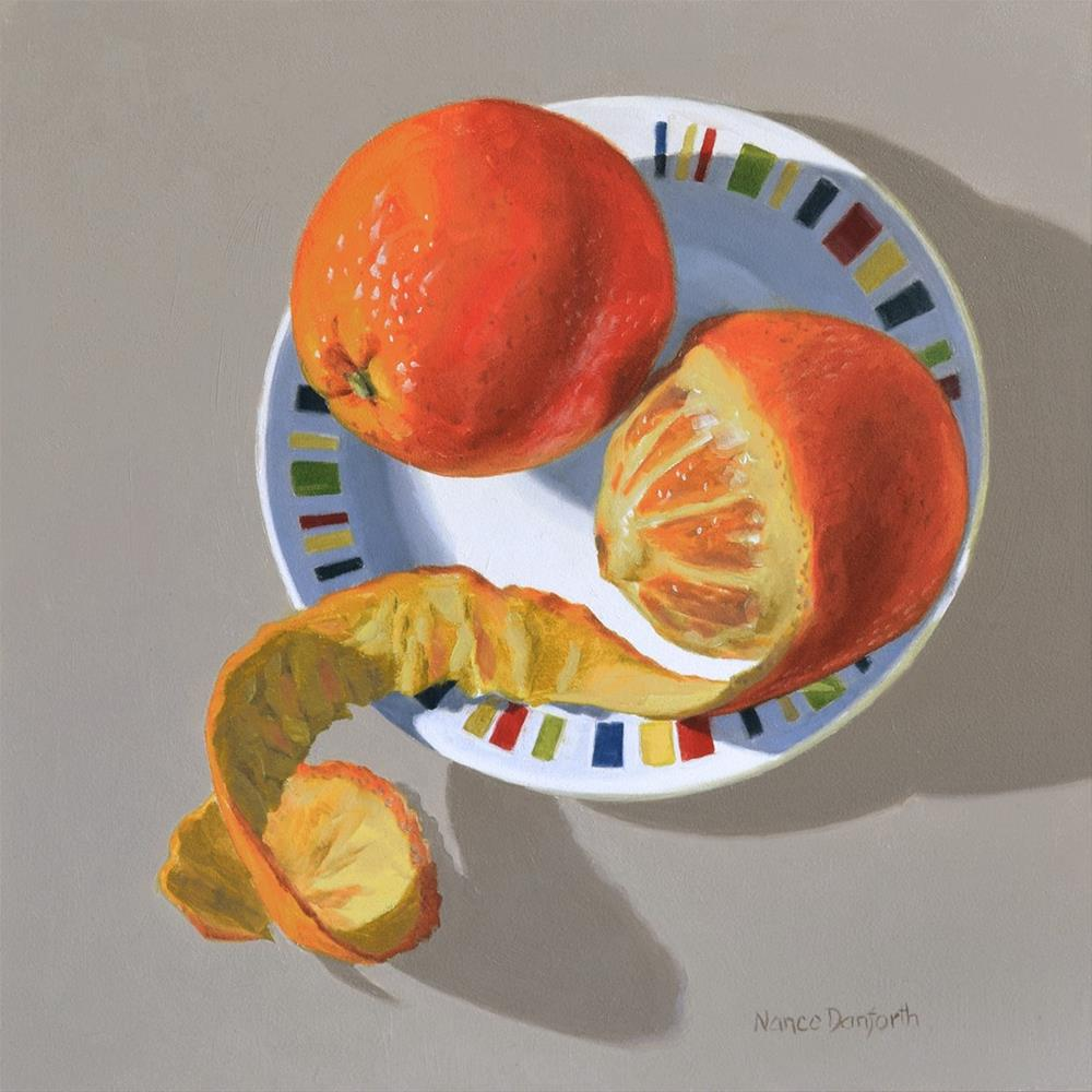 """Two Oranges"" original fine art by Nance Danforth"