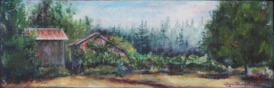 """Overgrown Shed"" original fine art by Jana Johnson"