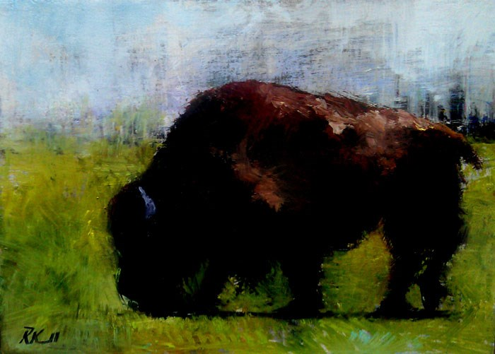 """An American Buffalo"" original fine art by Bob Kimball"
