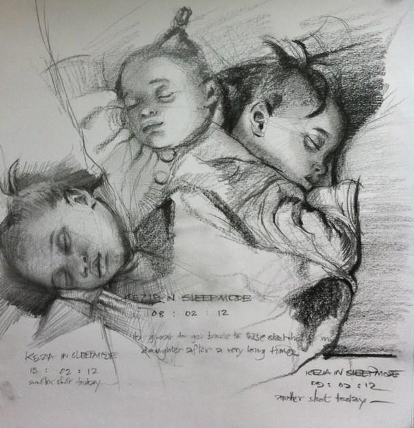 """Kids, Life, Art & Stuff 9"" original fine art by Adebanji Alade"
