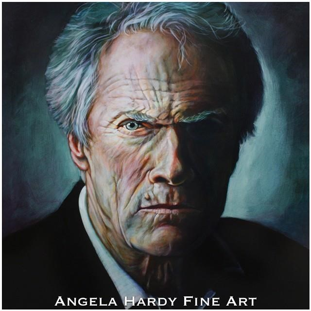 """Clint Eastwood"" original fine art by Angela Hardy"