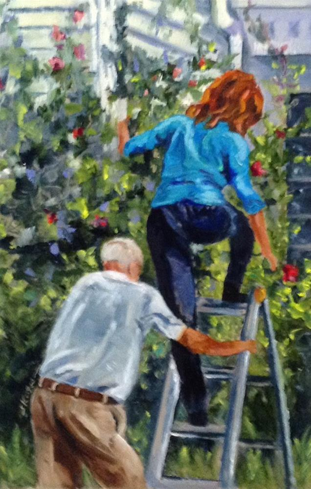 """With A Little Help From My Friend"" original fine art by Shelley Koopmann"