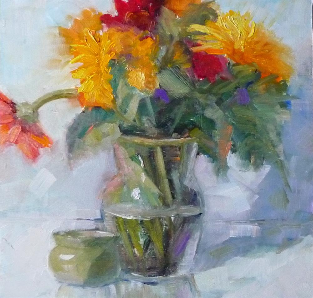 """Flowers Everyday"" original fine art by Carol Josefiak"