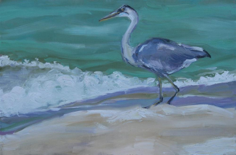 """beach comber"" original fine art by Carol Carmichael"