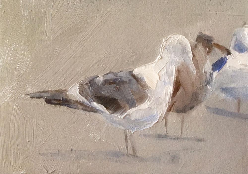 """""""Gulls at Dusk"""" original fine art by Gary Bruton"""
