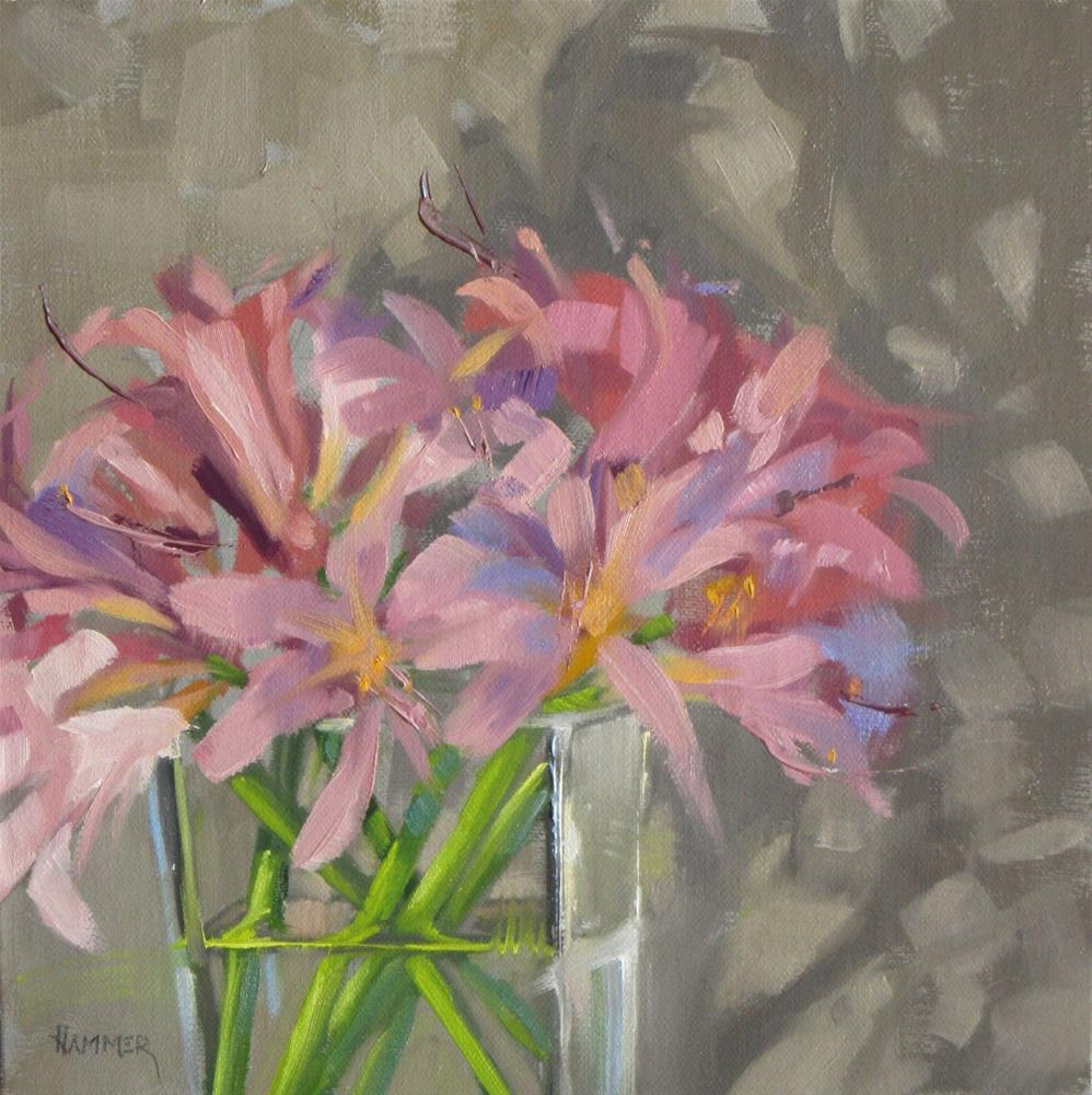 """'Bunch of Ladies'  8 x 8  oil"" original fine art by Claudia Hammer"