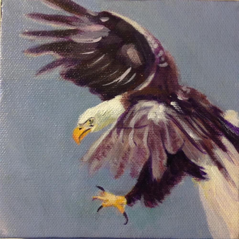 """Eagle study #1"" original fine art by Dawn Melka"